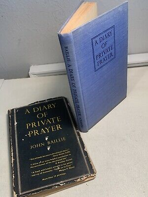 A Diary Of Private Prayer John Baillie 1949 Hardcover Christian Business Card