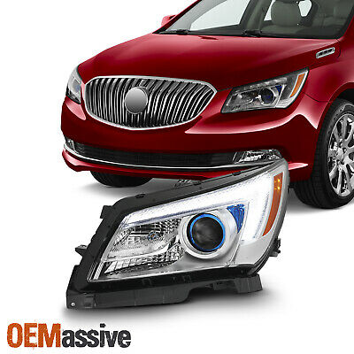 Fit [Halogen Type] 14-16 Buick LaCrosse Driver Left Side LED Projector Headlight