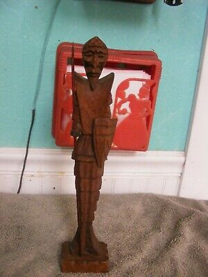 Vintage 60's Don Quixote Wood Statue/Sculpture/Nick Nack