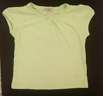 Girls Green T Shirt From George At Asda Aged 4-5 Years