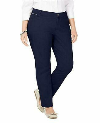 Charter Club Women's Plus Size Slim-Leg Chino Pants, Intrepid Blue, 18W