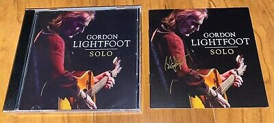 Gordon Lightfoot Signed CD Solo