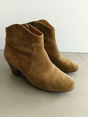 Isabel Marant mainline beige suede Dicker ankle boots 38 / 8 made in France