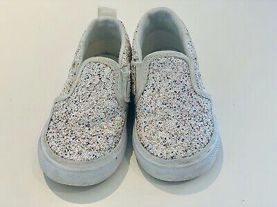 Baby Toddler Girls Converse White Glitter Trainers UK Size 5