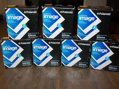 LOT 7 Boxes NEW/SEALED Polaroid Spectra Image Instant Film 20 Photos Exp 10/05