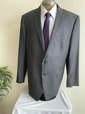 Calvin Klein Mens Blazer Suit Jacket Gray 2 Button Wool Notch Collar Size 48L