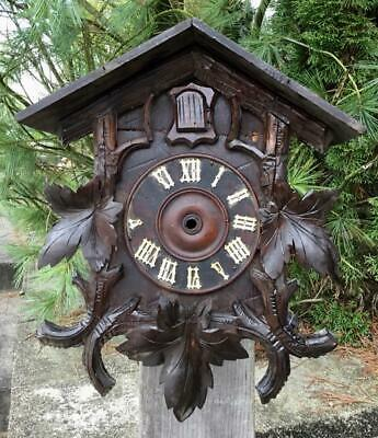 German Black Forest Cuckoo Clock Case Project or Parts