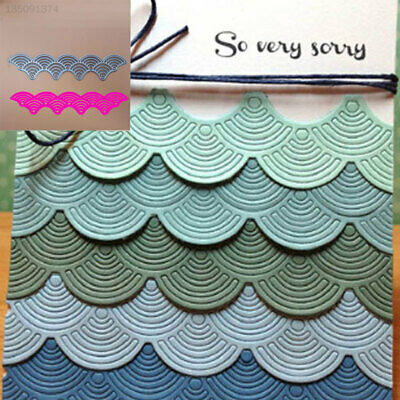 Silvery Wave DIY Paper Crafts Cutting Stencil Delicate Novelty Home Decoration