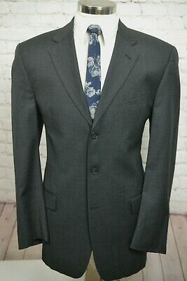 Joseph Abboud Mens Gray Wool Classic Fit Pleated Front 2 Piece Suit 42L 36Wx32L