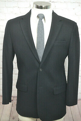 FRENCH CONNECTION Mens Black Wool CLASSIC FIT Sport Coat Blazer Jacket SIZE 40S
