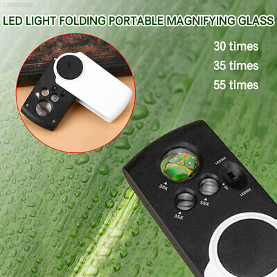 066E 25X 30X 55X with 3 Light Accessories Lens Magnifier Practical Folding Home