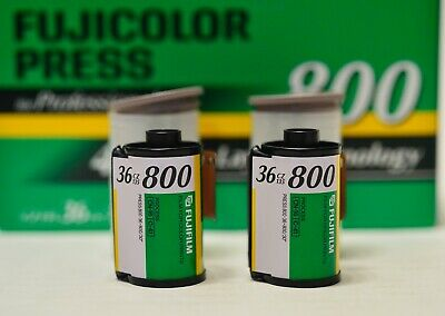 2 Rolls 800 ISO Fujicolor Press Expired 35mm 36 Exposure Film 4th Color Layer