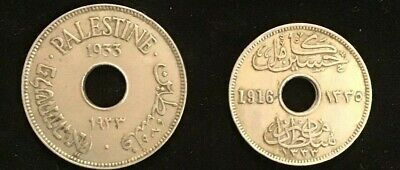 COINS EGYPT 5 and 10 MILLIEMES 1916 and 1933