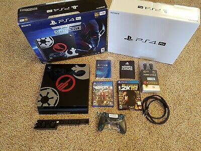 Sony PlayStation PS4 Pro Star Wars Limited Edition 1TB NBA 2K FARCRY Accessories