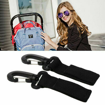 2pcs Baby Wheelchair Pram Bags Hanger Hook Clips Stroller Carriage /Accessories