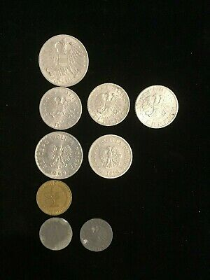 German and Osterreich WW11 group of 9 coins.