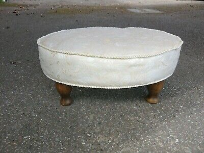 Upholstered footstool, 20th-Century,Ex-Condition.