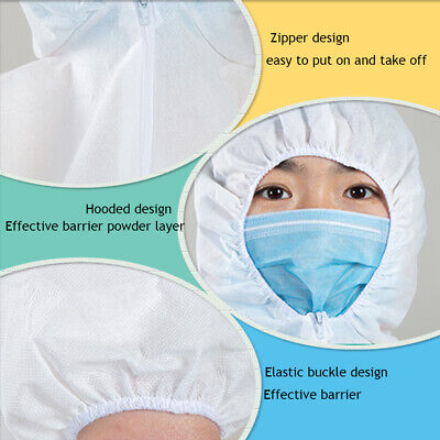 Unisex Disposable Isolation Gown Disposable Protective Clothing Suits Coveralls