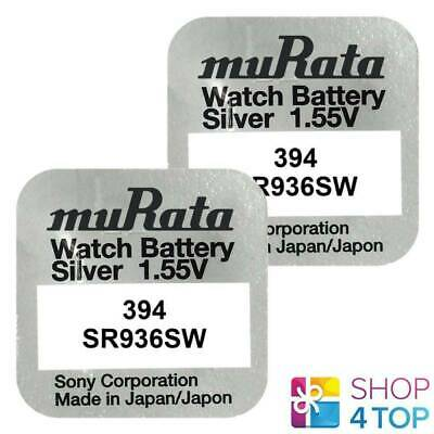 2 Murata 394 Sr936Sw Batteries Silver Oxide 1.55V Sony Watch Battery 2022 New