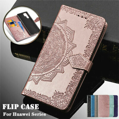 For Huawei P20 P30 Mate 20 Pro Lite Patterned Leather Magnetic Wallet Flip Case