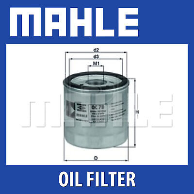 Mahle Oil Filter OC78 - Fits Audi - Genuine Part - Single