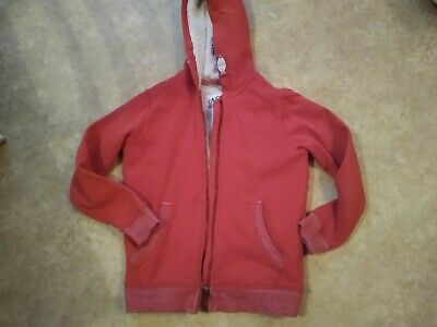 Boys Marks & Spencer Age 9-10 Years orange/Red Borg Lined Hoodie/jumper M&S