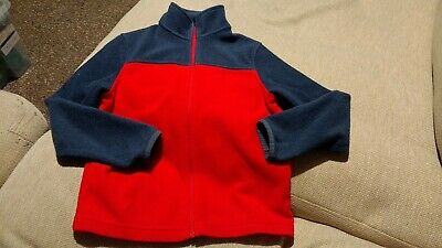 Boys Marks & Spencer Red Zip Up Funnel Neck Fleece Jacket Age 9-10 Years M&S