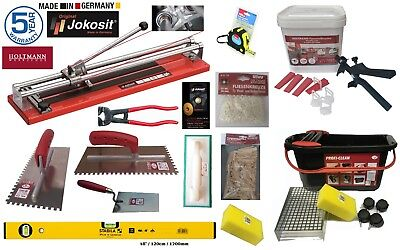 Tiling Silver Kit -JOKOSIT Ball Bearing Tile Cutter 60cm, Leveling & Washboy Kit