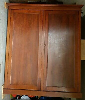 Antique Wooden Linen Cupboard