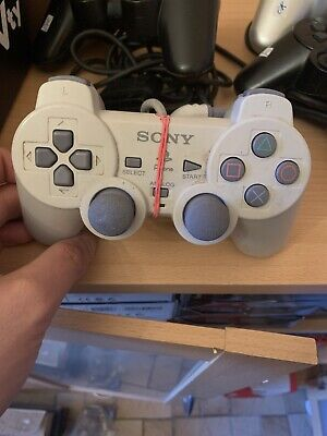 Sony Playstation 1 PS1 PSone Original Dual Shock Controller Weiss SCPH-110