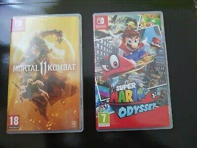 Super Mario Odyssey (Nintendo Switch) and Mortal Kombat 11 (Nintendo Switch) gam