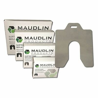 "MAUDLIN PRODUCTS MSB050-10 Slotted Shim B-3 x 3"" x 0.050"", Pk10"