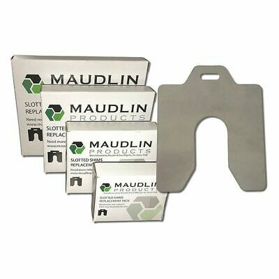 "MAUDLIN PRODUCTS MSB005-20 Slotted Shim B-3 x 3"" x 0.005"" Pk20"