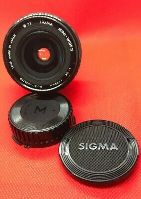 OBJECTIF SIGMA FOR CANON FD  50 mm  1:2.8  f= 28mm MINI-WIDE II LENS JAPAN MADE