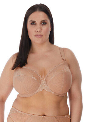 ELOMI Charley Plunge Lace Wired Bra Fawn Luxury Lingerie 4382