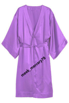 One Peace Gown Satin Fabric Medium Purple Women's Night Dress Wear NightWear S79