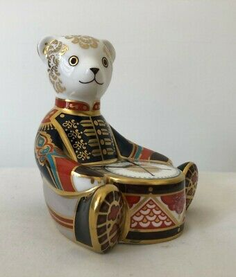 Royal Crown Derby Scottish Teddy Drummer Boy 1st Quality With Gold Stopper #126