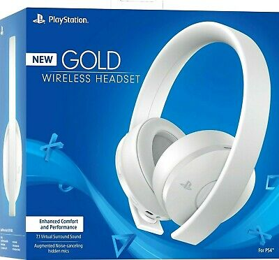 Sony PS4 Gold Wireless Headset [ WHITE Edition ] 7.1 Surround Same Day Ship by 4