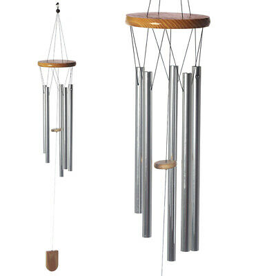 Metal & Wooden Wind Chime | Window Chime Garden Decor| Hanging Chimes | 4 Sizes