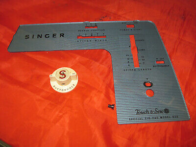 Singer Sewing Machine 638 Touch & Sew Parts Front Face Cover Plate Panel