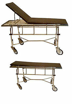 Doll miniature handcrafted Medical Bed Hospital Brown Metal 1920 1//12th scale