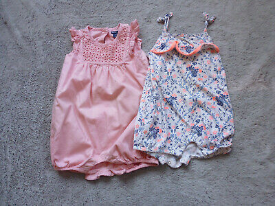 Lovely Girls 3 x baby Gap/Mothercare Romper suits, Size 12-18 Months