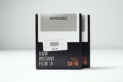 Impossible Project SX-70 Black & White B&W Instant Film Polaroid 2 Packs