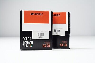 Impossible Project Color Instant Film for SX-70 Polaroid 2 Packs