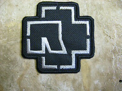 """Rammstein industrial metal band embroidery iron-on patch 3""""x3"""""""