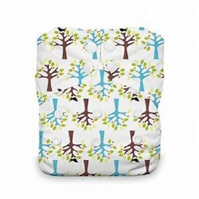 Thirsties Reusable Cloth Diaper - One Size All in One - Snap Closing - Blackbird