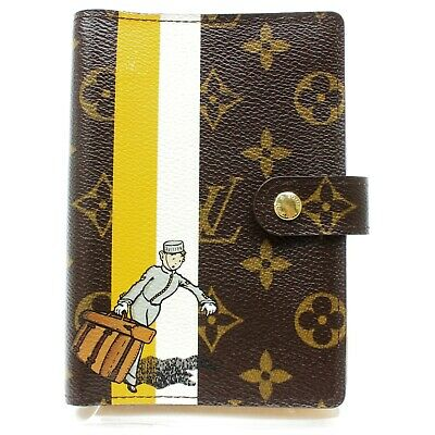 Authentic Louis Vuitton Diary Cover Agenda PM R20019 Browns  824703