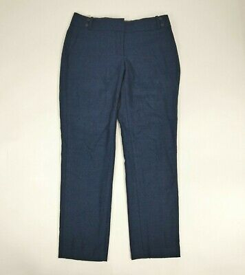 Ann Taylor LOFT Julie Womens Blue Wool Blend Dress Pants Size 6
