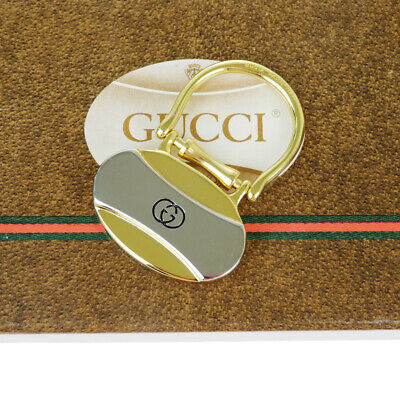 Auth Gucci Bag Charm Key Ring Fashion Keyring (Gold,Silver) 07FA917