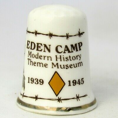 Collectable Bone China Thimble 'Eden Camp Modern History Theme Museum 1939-1945'